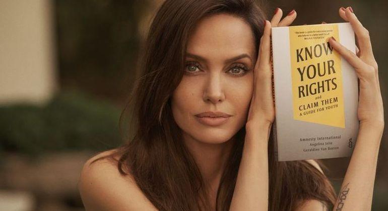 Angelina Jolie lança livro em parceria com a Anistia Internacional