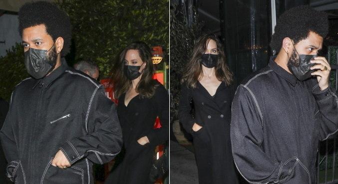 Angelina Jolie e The Weeknd foram flagrados jantando juntos
