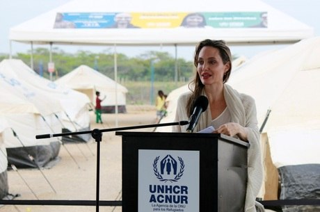 Angelina pediu apoio às crianças venezuelanas<br />