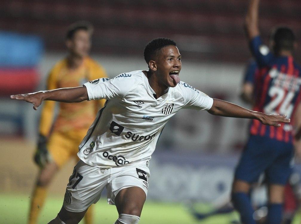 Ângelo. O jogador mais jovem a marcar na história da Libertadores