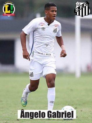 Ângelo Gabriel – 6,0: Se tornou o segundo jogador mais novo a jogar profissionalmente pelo Santos. Caiu pelo lado direito de ataque, buscou a jogada individual em alguns momentos, mas não teve muitas chances para tentar definir o jogo.