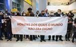 Os missionários foram recebidos em São Paulo, nesta sexta (14), por muitos fiéis e amigos