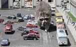 Uma espécie de Crimeia em miniatura onde um guaxinim pode andar sem o menor incômodoVale o clique:Cadáver é achado de cabeça para baixo em estátua de estegossauro