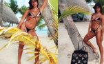 Como a poderosa que é, Anitta tem um closet imenso e repleto de roupas e acessórios de luxo. Em março deste ano, ela apareceu curtindo dias de sol em Punta Cana, na República Dominicana, com uma bolsa no valor de R$22,4 mil, da grife francesaLouis Vuitton