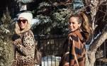 Já no Colorado, Anitta e a amiga, a modelo Daniella Grace, posaram juntas mostrando seus looks caprichados para enfrentar as baixas temperaturas. Elas receberam diversos elogios e ganharam emojis de coração do cantor e produtor Ryan Tedder, da banda OneRepublic