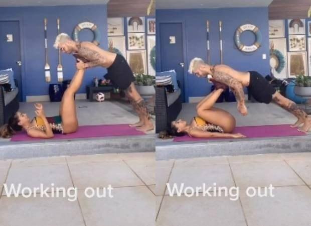 Anitta transformou o namorado em peso para treino