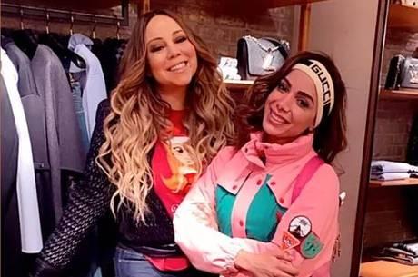 Mariah Carey e Anitta se encontraram em Aspen