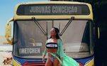 """Gretchen entrou na brincadeira e aproveitou a oportunidade para escrever uma homenagem ao Pará, estado em que mora. """"E, agora, oficialmente Garota do Pará. Amo esse estado que tem me trazido felicidade e esse sorriso que hoje trago na minha boca. O carinho desse povo a cada dia. O calor das pessoas que me abraçam com tanto amor. Inspiração:Anitta"""""""