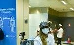 A artista também usava máscara de proteção contra o coronavírus
