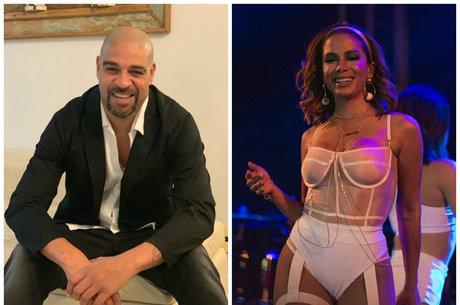 Adriano comentou em publicação de Anitta nas redes sociais