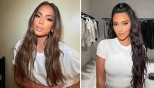 Anitta posa com maquiador das Kardashians e é comparada a Kim