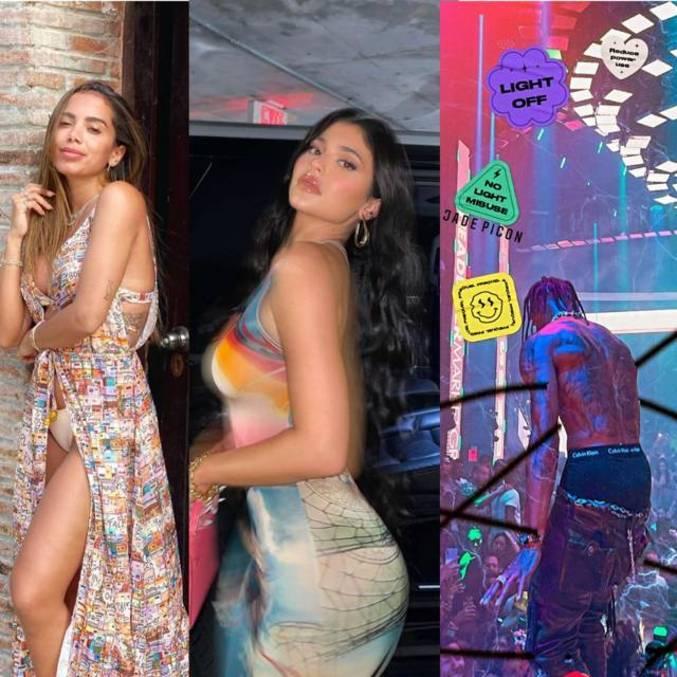 Anitta e Kylie Jenner são vistas juntas na festa de Travis Scott