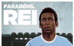 O Manchester City fez uma postagem sugestiva para Pelé: 'Teria sido uma honra... Parabéns pelos seus 80 anos, Pelé'