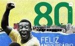 A Fifa fez questão de trazer um pequeno vídeo para Pelé: 'Existe apenas um REI', 'Da promessa de um menino a seu pai de coração partido em 1950, a ser o único homem a conquistar três títulos da Copa do Mundo, esta é a história de como Pelé assumiu o trono.'