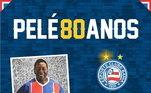 O Bahia também mandou uma mensagem para Pelé: A 1ª Estrela veio contra o Santos dePelé. Hoje é aniversário do Rei do Futebol. E o Bahia presta a sua homenagem.'