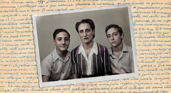 Anna com Dario e Vittorio depois da Guerra