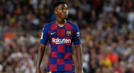 Ansu Fati assume a camisa 10 que era de Messi