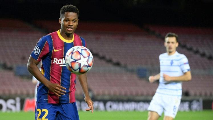 Ansu Fati - 18 anos - Atacante - Clube: Barcelona - Contrato até: 30/06/2022