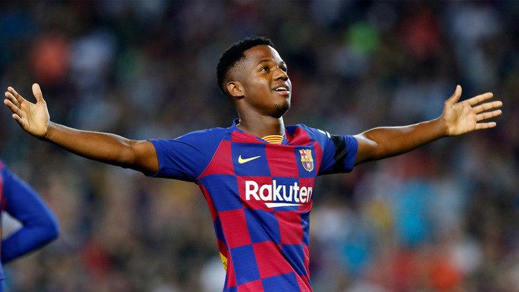 Ansu Fati - 18 anos: Outro que surgiu ainda em 2019, mas teve grande sucesso em 2020, quando virou titular do Barcelona e chegou à seleção espanhola.