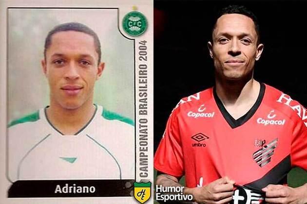 Antes e depois: Adriano em 2004 pelo Coritiba. Atualmente está no Athletico Paranaense