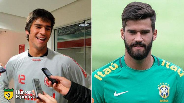 Antes e depois: as mudanças de Alisson Becker