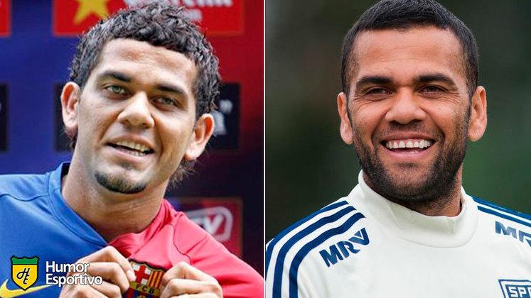 Antes e depois: as mudanças de Daniel Alves