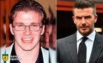 Antes e depois: as mudanças de David Beckham