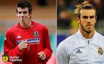 Antes e depois: as mudanças de Gareth Bale