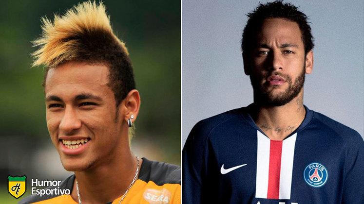 Antes e depois: as mudanças de Neymar Júnior