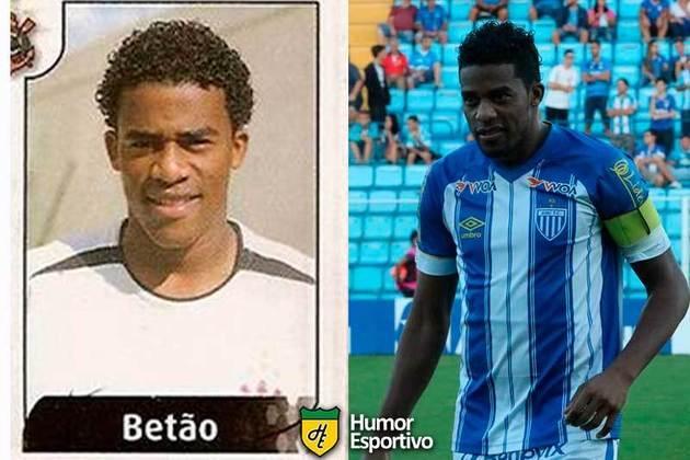 Antes e depois: Betão em 2004 pelo Coritnhians. Em 2019 disputou o Brasileirão pelo Avaí.