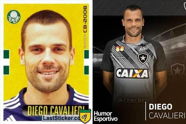 Antes e depois: Diego Cavalieri em 2008 pelo Palmeiras. Hoje defende o Botafogo.