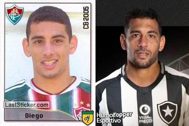 Antes e depois: Diego Souza em 2005 pelo Fluminense. Atualmente defende o Grêmio.