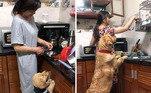 Desde pequeno ajudando nas tarefas domésticas