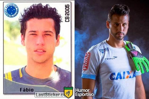 Antes e depois: Fábio em 2005 pelo Cruzeiro, mesmo clube que defenderá em 2020.