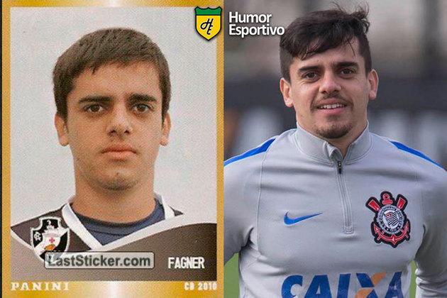Antes e depois: Fágner em 2010 pelo Vasco da Gama. Atualmente defende o Corinthians.