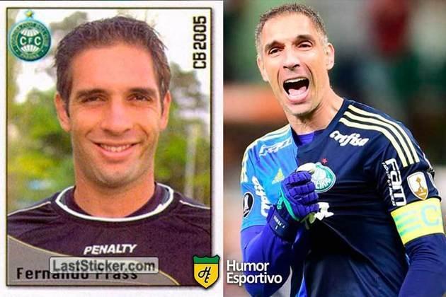 Antes e depois: Fernando Prass em 2005 pelo Coritiba. Em 2019 estava no Palmeiras.