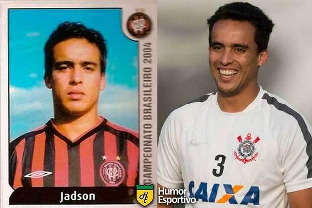 Antes e depois: Jádson em 2004 pelo Athletico Paranaense. Ficou muitos anos no Corinthians, virou ídolo, e voltou ao time paranaenseians.