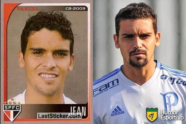 Antes e depois: Jean em 2009 pelo São Paulo. Em 2019 disputou o Brasileirão pelo Palmeiras.