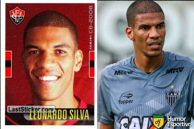 Antes e depois: Leonardo Silva em 2008 pelo Vitória. Em 2019 disputou a temporada pelo Atlético-MG.