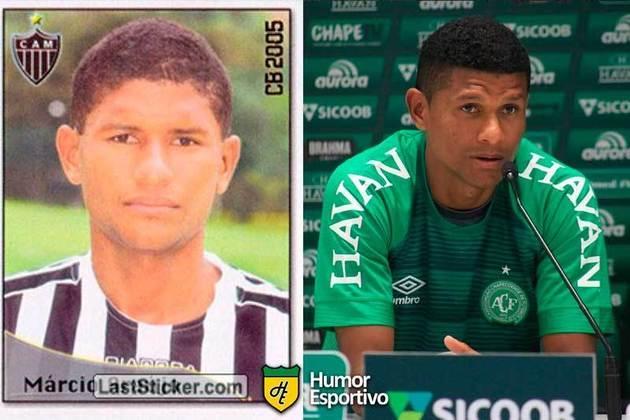 Antes e depois: Márcio Araújo em 2005 pelo Atlético-MG. Em 2019 disputou a temporada pela Chapecoense.