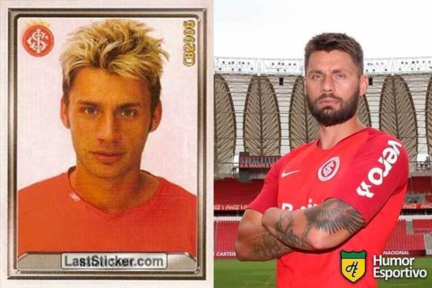 Antes e depois: Rafael Sóbis em 2006 pelo Internacional. Em 2020 disputa a temporada pelo Ceará.