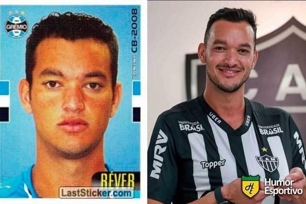 Antes e depois: Réver em 2008 pelo Grêmio. Atualmente está no Atlético-MG.