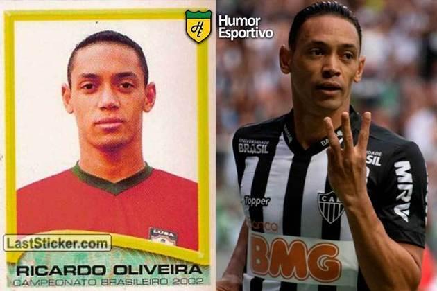 Antes e depois: Ricardo Oliveira em 2002 pela Portuguesa. Em 2019, disputou a temporada pelo Atlético-MG.