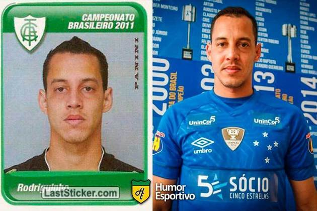 Antes e depois: Rodriguinho em 2011 pelo América-MG. Atualmente está no Bahia.