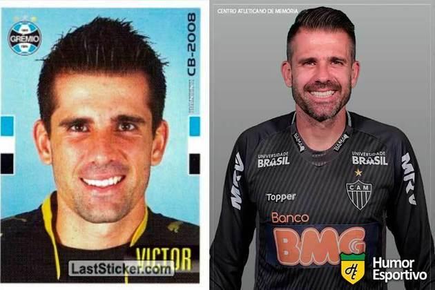 Antes e depois: Victor em 2008 pelo Grêmio. Atualmente está no Atlético-MG.