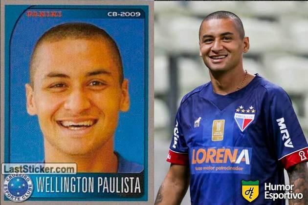 Antes e depois: Wellington Paulista em 2009 pelo Cruzeiro. Atualmente está no Fortaleza.