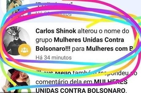 Usuário troca nome de grupo contrário a Bolsonaro