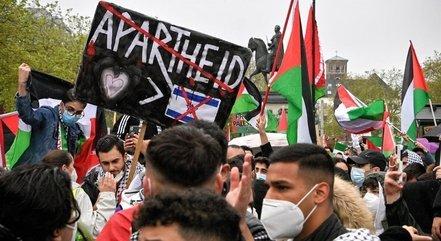 Durante o conflito, atos antissemitas foram registrados em protestos