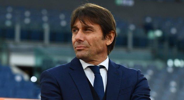 Antonio Conte, o treinador da Inter, um incômodo na vitória