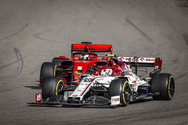 Antonio Giovinazzi ficou na frente de Vettel e terminou em 11º
